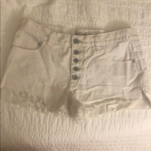 Free people white denim shorts